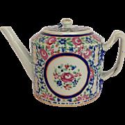 Chinese Export Rose Design Tea Pot C. 1790