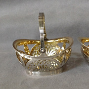 Pair Tiffany Sterling Small Baskets Antique