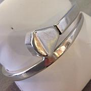 Vintage Alaskan Period Spratling Silver Wrapped Nail Bracelet