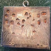Russian Silver Icon Antique pectoral