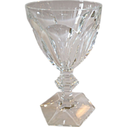 French Architectural Baccarat Harcourt Water Goblets
