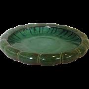 Large Fulper green to Pink Art Pottery Center Bowl