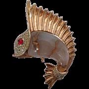 Sailfish Sterling Jelly Belly Pin Trifari