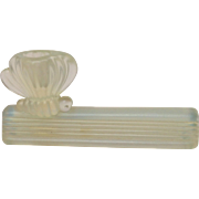 French Opalescent Glass Signed Sabino Bee Knife Rest