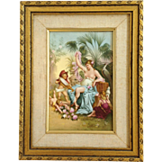 Vienna Semi-Nude And Cherubs Painted Plaque