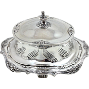 Antique Tiffany Sterling Butter Dish