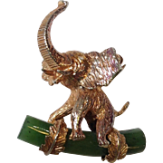 Alice Caviness Sterling Elephant Pin