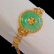 Green Jade Bracelet 22k Chinese