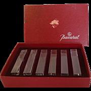 Boxed Set Baccarat Knife Rests