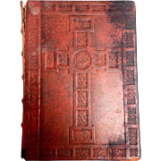 Gothic Press Red Leather Family Bible