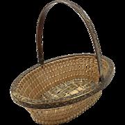 Small French Wicker Work Basket