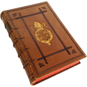 SOLD Leather Bound Book Short's Church History c. 1882