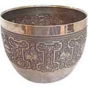 SOLD Cambodian Silver Plate Planter