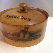 Mauchlin Ware Spice Box mid 19th century