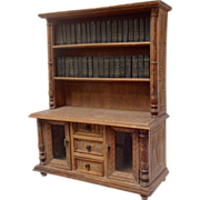 Miniature Oak Dresser Bookcase Set Shakespeare