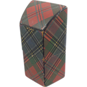 Tartan Ware Needle Box - McLean Trapezoidal Shape
