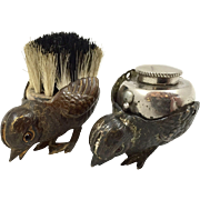 SOLD English Gilt Bronze Chick Pen Wipe and Sander