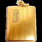 Gold-Filled Square Locket