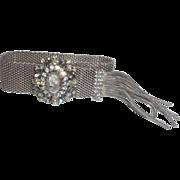 Vintage Signed Hobe' Victorian Revival Glass Cameo Bracelet