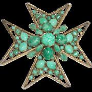 Vintage Signed Schreiner Maltese Cross Brooch/Pendant