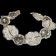 SALE Vintage Signed Nettie Rosenstein Rhinestone Bracelet
