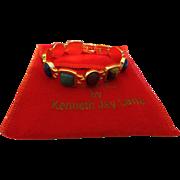 Vintage Signed KJL Egyptian Revival Bracelet with Original Red Bag
