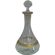 Vintage Banded Crystal Decanter