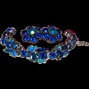 SALE D&E Juliana Bracelet and Earrings Set in Shades of Blue