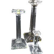Vintage Trio of Crystal Candlesticks