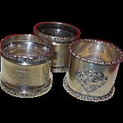 Vintage Silverplate Napkin Rings