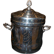 Vintage Silver on Copper Ice Bucket