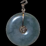 Vintage 14KT Jade and Gold Pendant