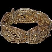 Sterling Silver Vermeil Filigree Bracelet