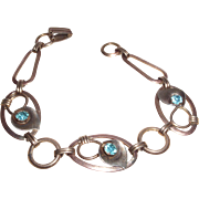 Signed Crosby Gold-filled Over Sterling Bracelet with Calla Lilies