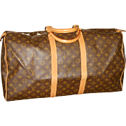 SALE Authentic Louis Vuitton vintage Monogram Keepall 55 duffle bag luggage