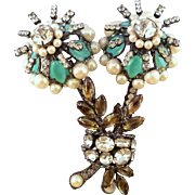 REDUCED Vintage Lawrence Vrba Enormous Double Blossom Flower Brooch
