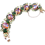 REDUCED Highly Desirable D&E aka Juliana Cats-Eye Cabochon Bracelet - Book References