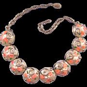 REDUCED Plastic 'Wedding Cake' Style Cabochon Necklace - Unique