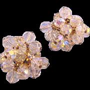 REDUCED D&E aka Juliana Clear Rhinestone and Crystal Bead Dangle Earrings