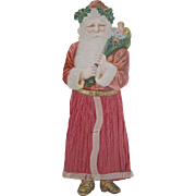 SOLD Large Victorian Santa Claus Tree Ornament