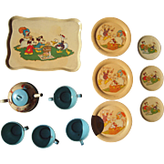 1930s Disney Characters Donald Duck, Mickey Mouse, Pluto, etc Child's Toy Tea Set