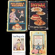Lot of 4 1920s/1930s Cookbooks
