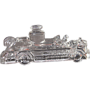c1920s Glass Fire Engine Candy Container