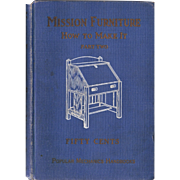 1910 Book Mission Furniture How to Make It
