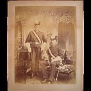 Large Victorian Era Photograph of Masonic Members