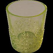 c1900s/1910s Yellow Vaseline Glass Tumbler