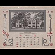 1912 Calendar from Oberlin College, Ohio