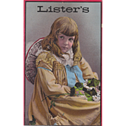 Large Advertising Trade Card Lister's Fertilizer