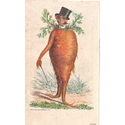 c1880s Carrot Man Advertising Trade Card