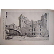 Lot of 4 1890s Photograuvres of Pittsburgh, PA